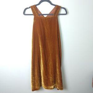 Velvet Dress Thick Straps